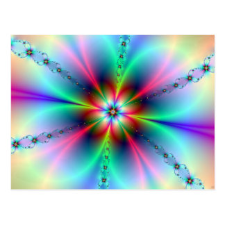 Flower Power Fractal Postcard