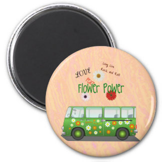 Flower Power fridge magnet