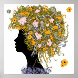 Flower Power hair Poster