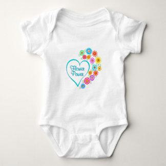Flower Power Heart Baby Bodysuit