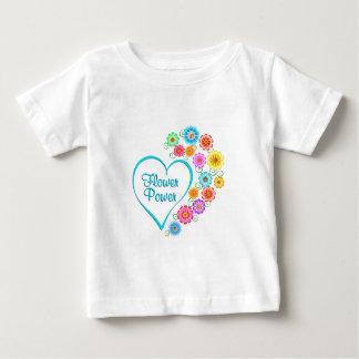 Flower Power Heart Baby T-Shirt