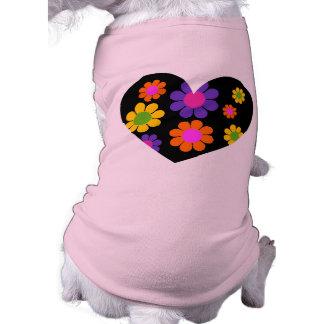 Flower Power Heart Dog Clothes