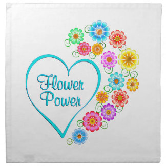 Flower Power Heart Napkin