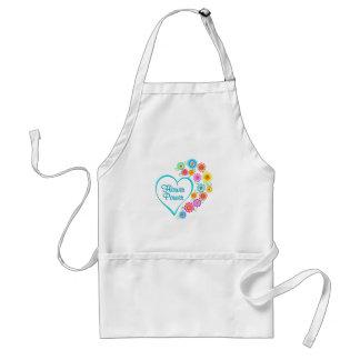 Flower Power Heart Standard Apron