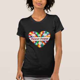 Flower Power Heart T-Shirt