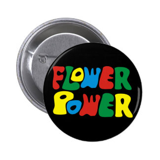 Flower power hippie 2 inch round button