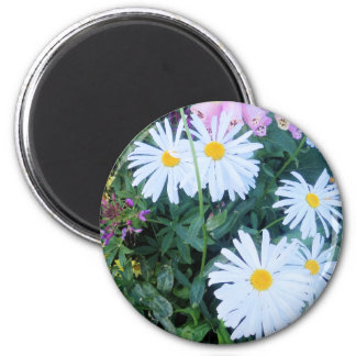 flower power in alaska 2 inch round magnet