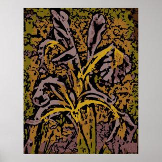 Flower Power in Lavender Print