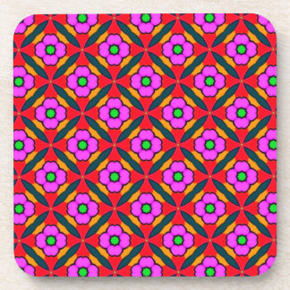 Flower Power in Pink Design Coasters