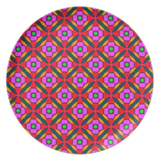Flower Power in Pink Design Plate