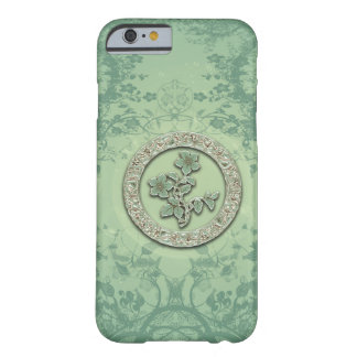 Flower power in soft green colors barely there iPhone 6 case