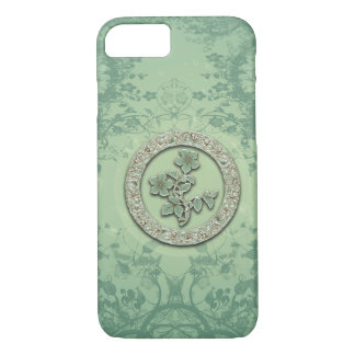 Flower power in soft green colors iPhone 8/7 case