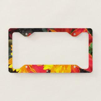 Flower Power license plate holder License Plate Frame