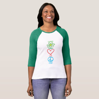 Flower Power Love and Peace T-Shirt
