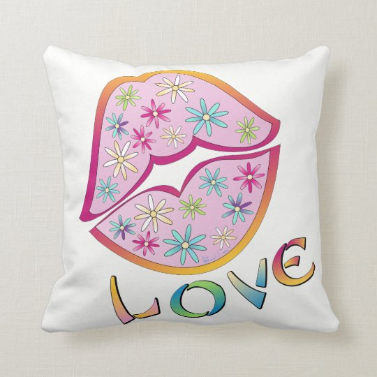 Flower Power Love-Throw pillow