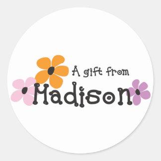 Flower Power - Madison Classic Round Sticker