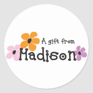 Flower Power - Madison Round Sticker