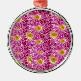 flower power metal ornament