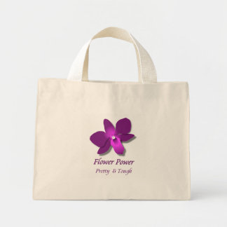 Flower Power Mini Tote Bag