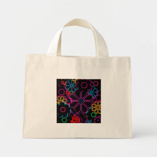 flower power mini tote bag