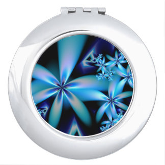 Flower power mirror compact vanity mirrors