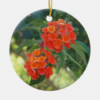 Flower Power & Nature Ornament - Red Lantanas