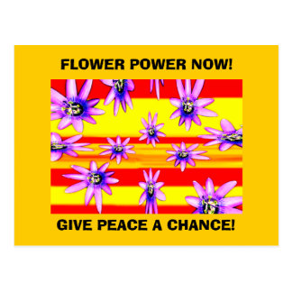 FLOWER POWER NOW! POSTCARD