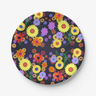 Flower Power Paper Plate