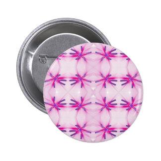 Flower power pattern 2 inch round button