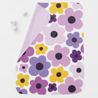 Flower Power Pattern Baby Blanket