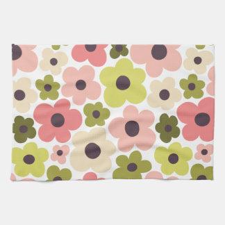 Flower Power Pattern Kitchen Towel