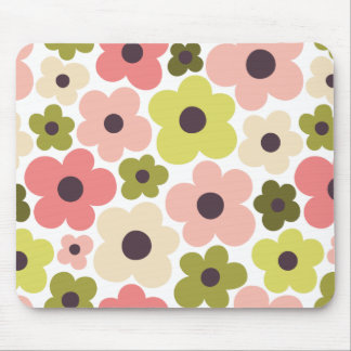 Flower Power Pattern Mouse Pad