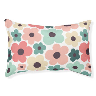 Flower Power Pattern Pet Bed