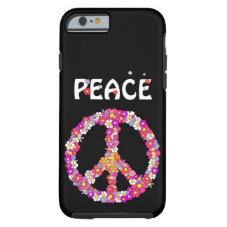 Flower Power Peace Sign Tough iPhone 6 Case