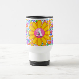 Flower Power Personalized Travel Mug