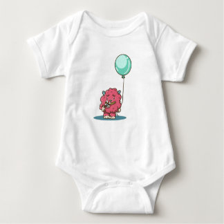 Flower power Pink monster Baby Bodysuit