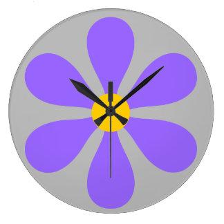 Flower Power - purple Clocks