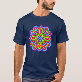 Flower Power Rainbow Bright Colorful Floral Motif T-Shirt