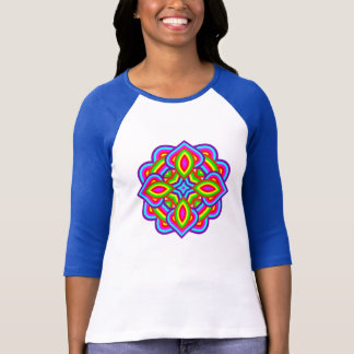 Flower Power Rainbow Bright Colorful Floral Motif T-Shirt