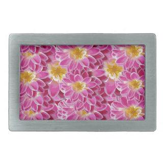 flower power rectangular belt buckle