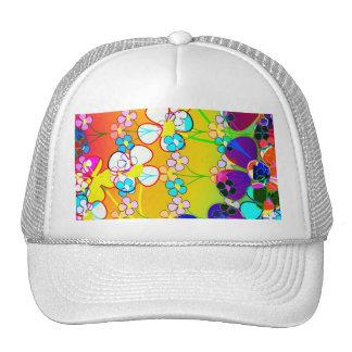 Flower Power Retro Pansies Trucker Hat