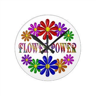 FLOWER POWER ROUND CLOCK
