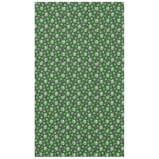 Flower Power Skulls in Festive Green Tablecloth
