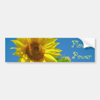 Flower Power! - Springtime sunflowers Bumper Sticker