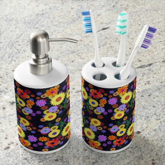 Flower Power Toothbrush Holders