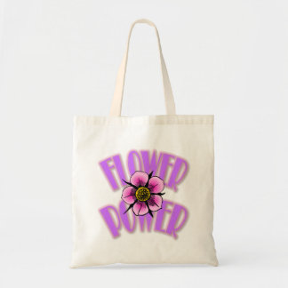 Flower Power Tote Bag - Purple & Pink Design