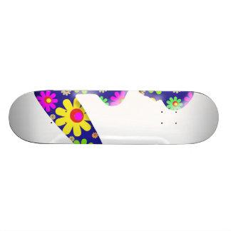 Flower Power Trucker Girl Skate Deck