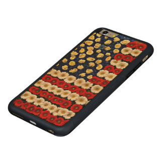 Flower Power US Banner Carved Maple iPhone 6 Plus Bumper Case