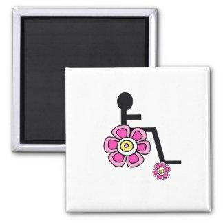 Flower Power Wheelchair  Magnet