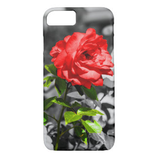 Flower Power with red roses iPhone 7 Case